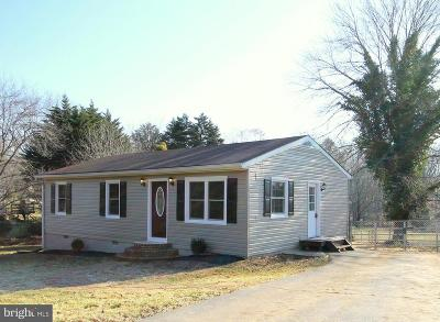 Culpeper Single Family Home Under Contract: 1458 Fords Shop Road