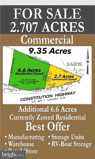 Orange County Commercial For Sale: 26243 Constitution Highway