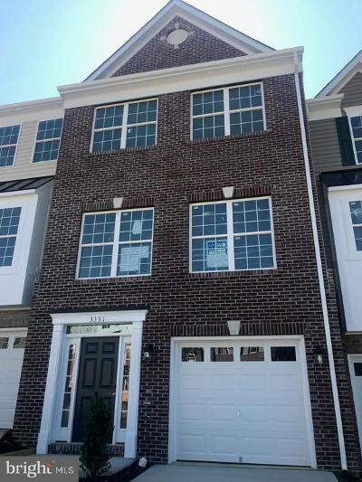Prince William County Townhouse For Sale: 3351 Broker Lane