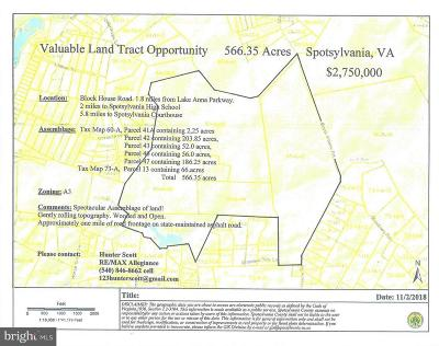 Spotsylvania County Residential Lots & Land For Sale: Blockhouse Road