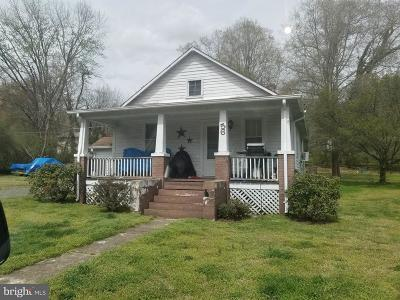 Fredericksburg VA Single Family Home For Sale: $265,000