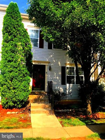 Stafford County Townhouse For Sale: 403 Park Cove Drive