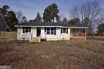 Colonial Beach Single Family Home For Sale: 130 Bonnie Del Drive