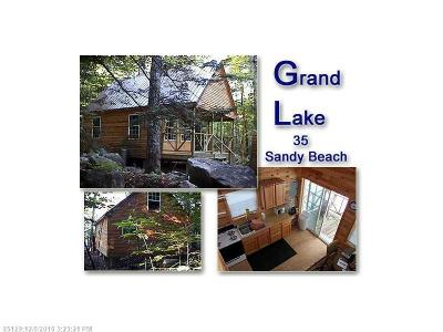 Danforth Single Family Home For Sale: 35 Sandy Beach Road
