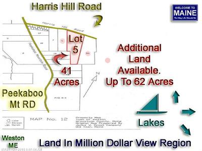 Weston Residential Lots & Land For Sale: Lot 5 Harris Hill Rd