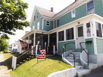 Millinocket Multi Family Home For Sale: 96 Oxford St