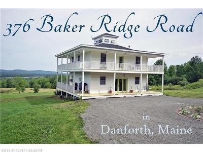 Danforth Single Family Home For Sale: 376 Baker Ridge Rd