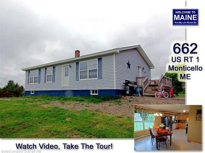 Monticello Single Family Home For Sale: 662 Us Hwy 1
