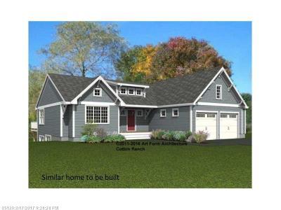 Kennebunk Single Family Home For Sale: Lot 3 Flagship Cir