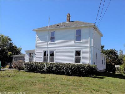 Winter Harbor Single Family Home For Sale: 14 Sargent St