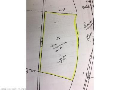 Fort Fairfield Residential Lots & Land For Sale: Map 12 Lot 51 Russell Rd