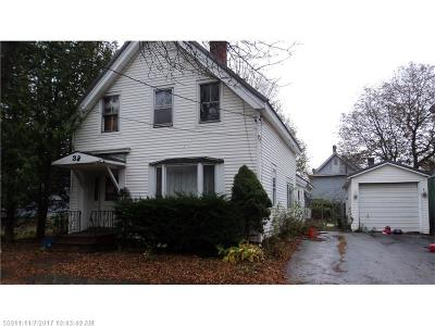 Bangor ME Single Family Home For Sale: $32,500