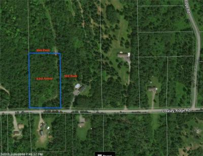 Residential Lots & Land For Sale: Lot 7.2 Creasey Ridge Rd