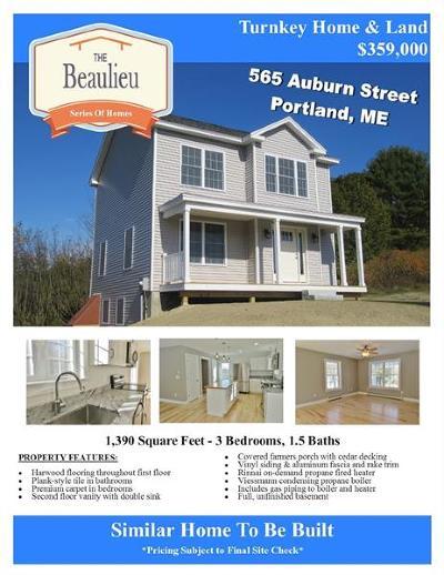 Portland ME Single Family Home For Sale: $359,000