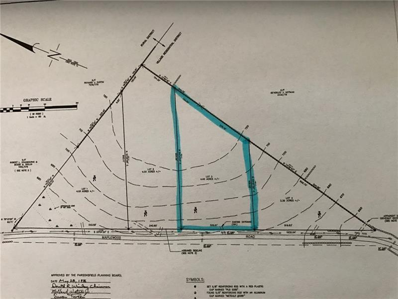 Parsonsfield Maine Map.Maplewood Road Parsonsfield Me Mls 1352137 Real Estate Land