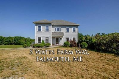 Scarborough, Cape Elizabeth, Falmouth, Yarmouth, Saco, Old Orchard Beach, Kennebunkport, Wells, Arrowsic, Kittery Single Family Home For Sale: 5 Watts Farm Way