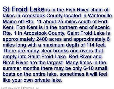 Aroostook County Residential Lots & Land For Sale: Lots 002 & 003 West Side Of St Froid Lake