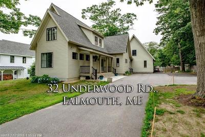 Falmouth Single Family Home For Sale: 32 Underwood Rd