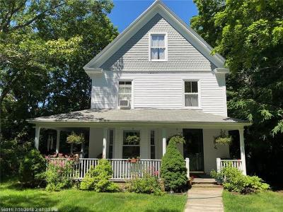 Kennebunkport Single Family Home For Sale: 25 South Main St