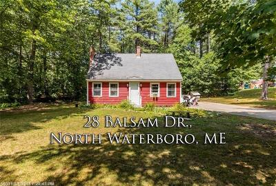 Waterboro Single Family Home For Sale: 28 Balsam Dr