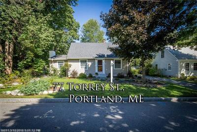 Portland Single Family Home For Sale: 77 Torrey St