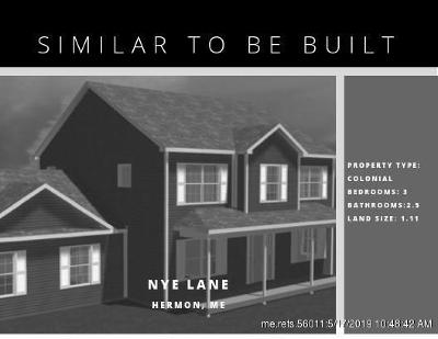 Single Family Home For Sale: Lot 7 Nye Lane (Off Wing Road)