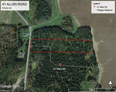 Presque Isle Residential Lots & Land For Sale: 41 Allen Road