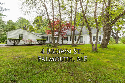 Falmouth Single Family Home For Sale: 4 Brown Street