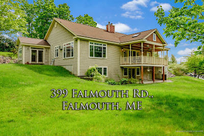 Scarborough, Cape Elizabeth, Falmouth, Yarmouth, Saco, Old Orchard Beach, Kennebunkport, Wells, Arrowsic, Kittery Single Family Home For Sale: 399 Falmouth Road