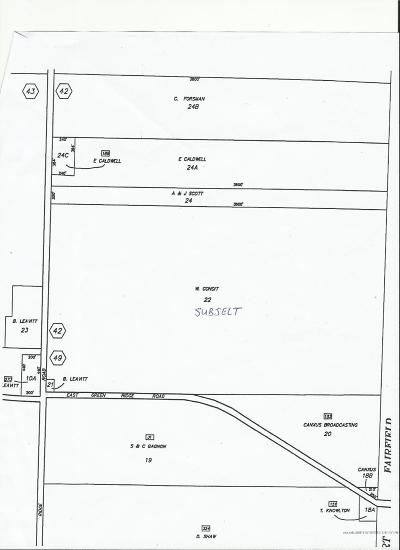 Caribou Residential Lots & Land For Sale: M03L022 Campground Hill Road
