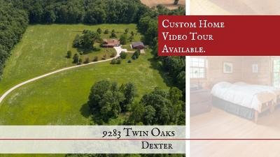 Dexter Single Family Home For Sale: 9283 Twin Oaks