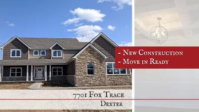 Dexter Single Family Home For Sale: 7701 Fox Trace Road