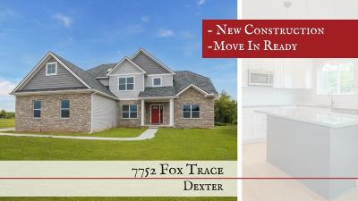 Dexter Single Family Home For Sale: 7752 Fox Trace