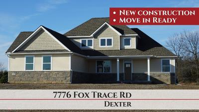 Dexter Single Family Home For Sale: 7776 Fox Trace Road