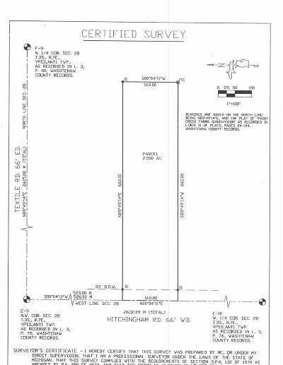 Ypsilanti Residential Lots & Land For Sale: East Hitchingham