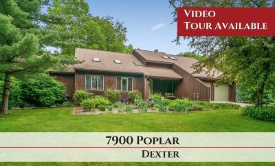 Dexter Single Family Home For Sale: 7922 Poplar Drive
