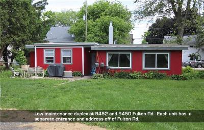 Whitmore Lake Multi Family Home For Sale: 9452 Fulton Rd