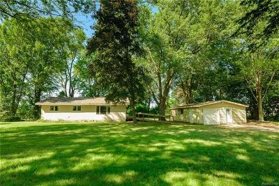 Whitmore Lake Single Family Home For Sale: 725 East North Territorial Rd