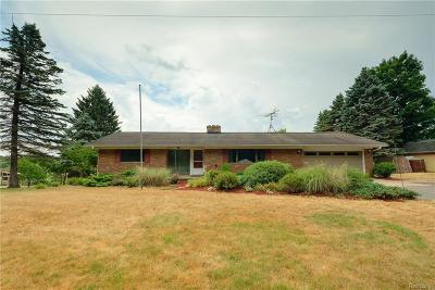Whitmore Lake Single Family Home For Sale: 4567 Valentine Rd