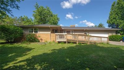 Saline Single Family Home For Sale: 7800 Platt Rd