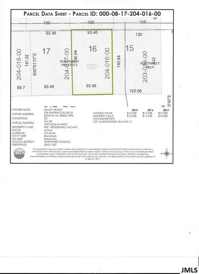Jackson MI Residential Lots & Land For Sale: $24,900