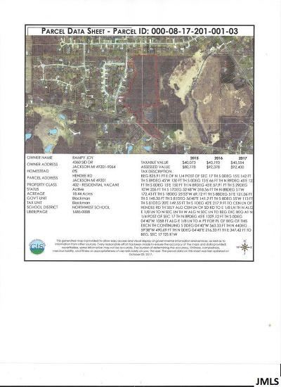 Jackson MI Residential Lots & Land For Sale: $61,000