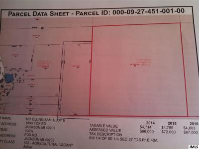 Jackson MI Residential Lots & Land For Sale: $174,999