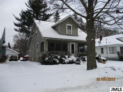 Jackson MI Single Family Home For Sale: $24,900