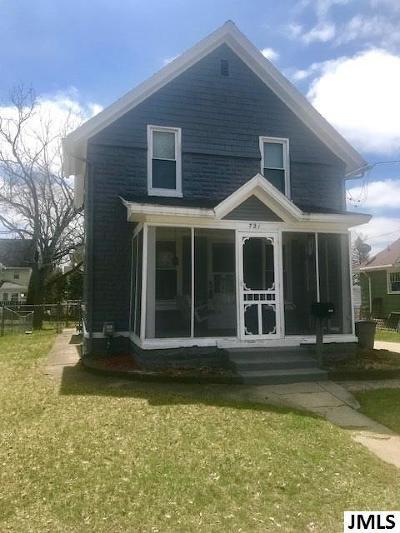 Jackson MI Single Family Home For Sale: $89,900