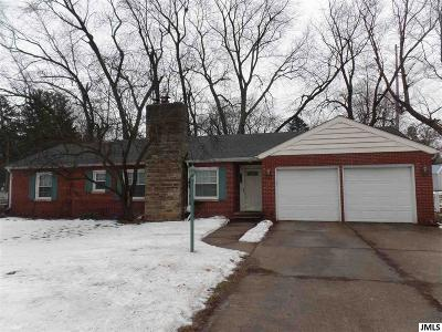 Jackson MI Single Family Home For Sale: $144,500