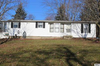Brooklyn MI Single Family Home For Sale: $119,900