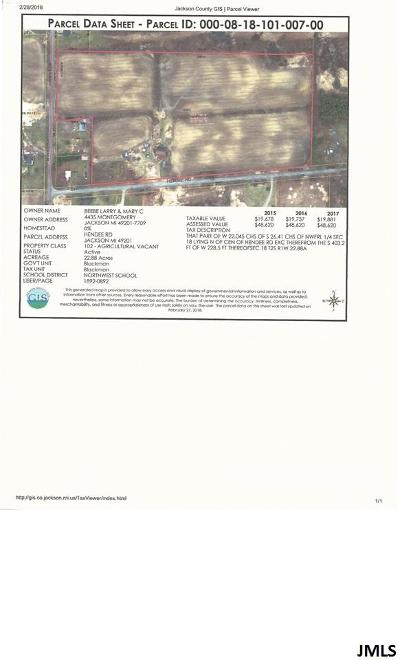 Jackson MI Residential Lots & Land For Sale: $100,000