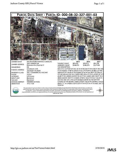 Jackson County Commercial Lots & Land For Sale: Vl Michigan Ave