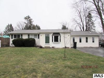 Jackson MI Single Family Home For Sale: $174,500